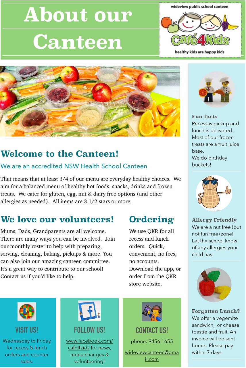 Canteen Welcome Flyer